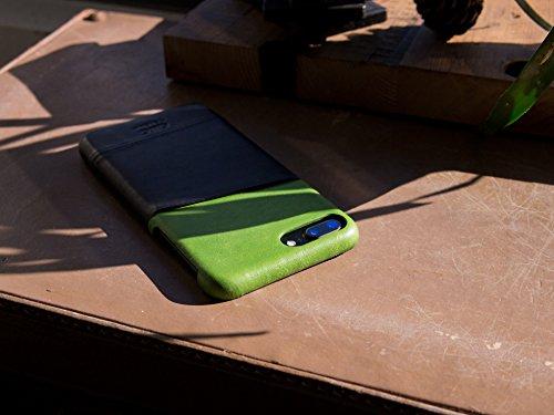 alto Handmade Premium Italian Leather Wallet Case for Apple iPhone 8 Plus / iPhone 7 Plus Metro (Lemon/Raven) by Alto (Image #8)