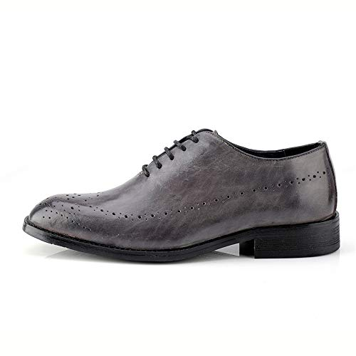 amp;Baby inglese Scarpe Sunny Marrone in Color Resistente pelle brogue stile in Grigio pelle 36 casual vera Oxford uomo da da EU uomo scuro Dimensione all'abrasione C8Fdw4nxqd