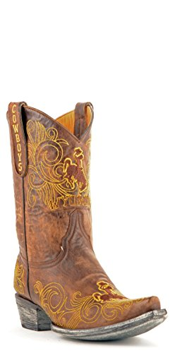 NCAA Wyoming Cowboys Women's 10-Inch Gameday Boots, Brass, 9.5 B (M) US
