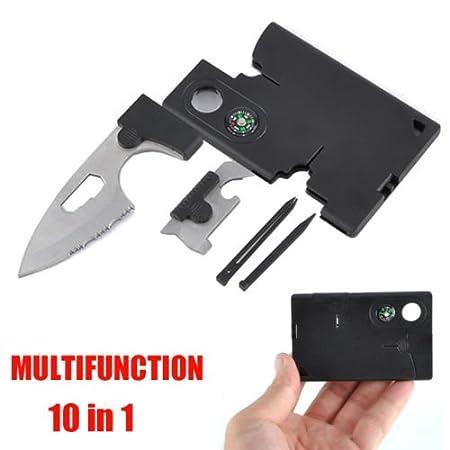 Multitool Survival Kit~Credit Card Size Knife Tool~Survival Pocket Knife~10 in 1 Multitool Emergency Kit~Brand New