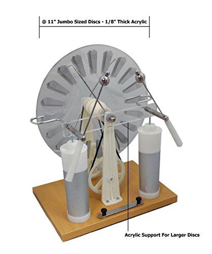 Lethan Lc2730 Economy Wimshurst Machine With Extra Large Discs  Jumbo Size