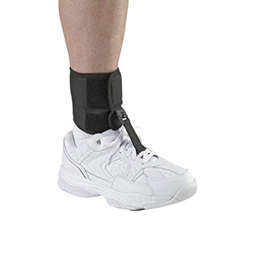 Ossur Foot-Up Drop Foot Brace – Orthosis Ankle Brace Support Comfort Cushioned Adjustable Wrap (Medium, Black)