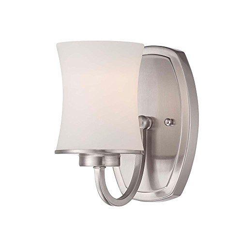 Dorado Collection 1-Light Satin Nickel Wall Sconce