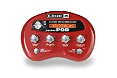 Portable Guitar Effects Processor with 300 Presets, 32 Amp Models, 16 Cab Models, 16 Effects, Audio Player In Jack, USB ConnectionPocket POD exhibits all the celebrated features and pro tone that makes POD a standard in recording studios ever...