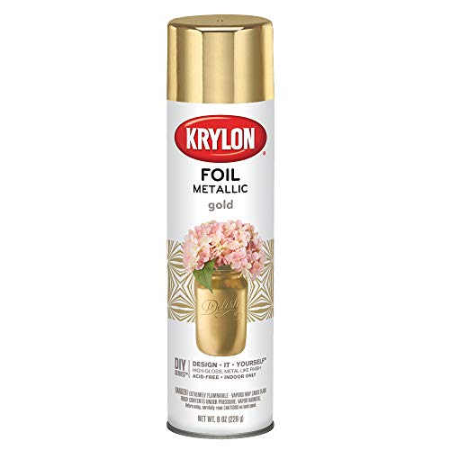 Krylon K01050007 Premium Metallic, Gold Foil, Gloss, 8 Ounce