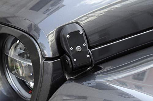 Highitem Auto Passenger Side Storage Box Container Organizer ABS Black Interior Accessory Interior Accessory Fit for Jeep Wrangler JK 2011-2017