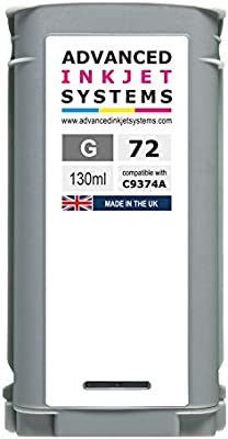 Compatible 72 130 ml cartuchos de tinta para HP DesignJet T610 T620 T770 T790 T1120 T1200 T1300 T2300 impresoras Reino Unido fabricado., color negro: Amazon.es: Oficina y papelería