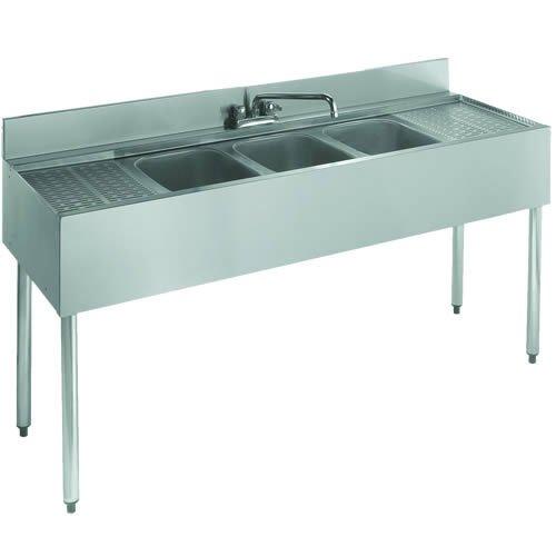 Krowne Royal Three (3) Compartment Bar Sink, 60