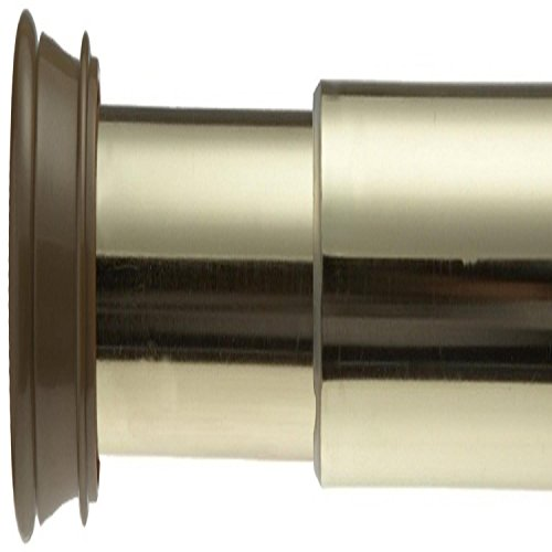 Carnation Home Fashions, Inc Stall 23 40-Inch Adjustable Shower Curtain Tension Rod, Brass