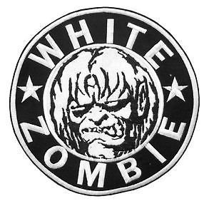 """WHITE ZOMBIE ROB Heavy Metal Logo Iron On Sew On Embroidered Patch 2.9""""/7.4cm x 2.9""""/7.4cm BY MNC SHOP"""