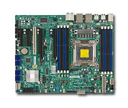 Supermicro Ethernet Motherboard - Supermicro ATX DDR3 1066 Intel LGA 2011 SATA3 (6Gb/s) Server Motherboard (X9SRA-O)
