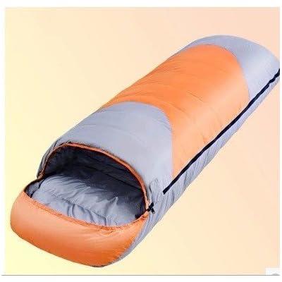ZHUDJ Le Sac De Couchage Sac De Couchage Bas Bas Coutures Outdoor Sac De Couchage Ultra Léger 2,6 Kg 220*80*55 (Cm), Orange, 220*80*55