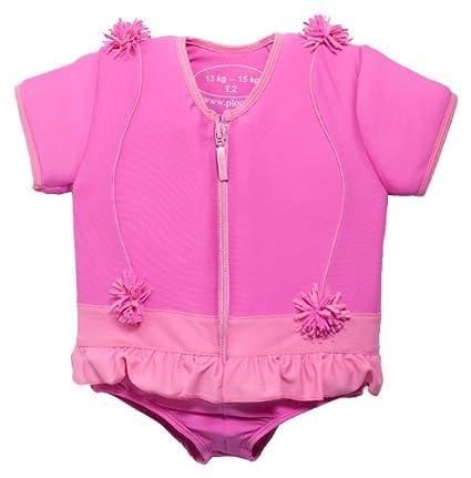Plouf FROU FROUT - Bañador flotador para niña, color rosa rosa rosa Talla:13