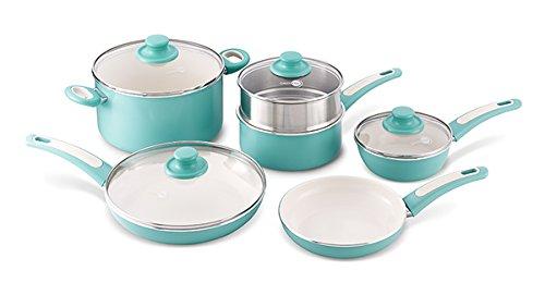 GreenPan Focus 10 Piece Aluminum Non-Stick Ceramic Cookware