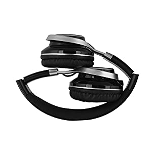 YHhao Over-Ear Headphone, Foldable Headphone with Microphone Mic and Volume Control for iPhone, iPad, iPod, Android Smartphones, PC, Laptop, Mac, Tablet, Over-Ear Headset for Music (Black)
