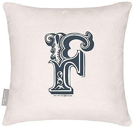Choice of Punctuation Mark Designed Printed /& Handmade in the UK /& Izabela Peters Designer Waterproof Vintage Alphabet Garden Outdoor Cushion 40 x 40 cm
