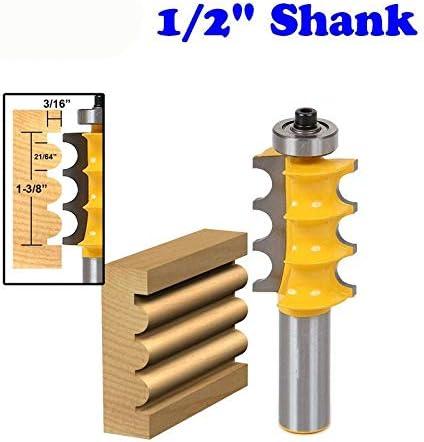 """NO LOGO ZZB-ZT, 1PC große Dreikorn-Säule/Face Molding Router Bit-1/2"""" Shank Linie Messer zum Holzschneider Zapfenschneider for Holzbearbeitungswerkzeug (Size : 1/2"""" 1pc)"""