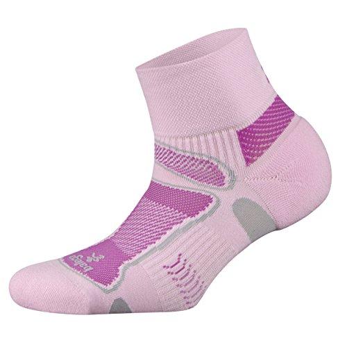 Balega Ultralight Quarter Athletic Running Socks for Men and Women (1 Pair), Pink, Medium