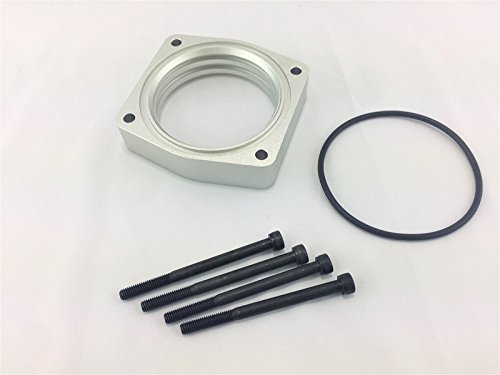 - Silver Billet Aluminum Throttle Body Spacer Fit 09-14 NISSAN MAXIMA 3.5L V6