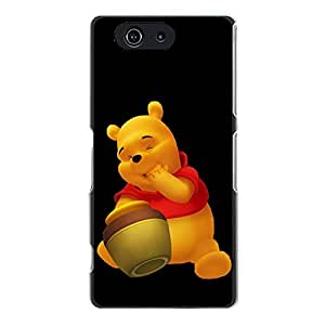 Sony Xperia Z3 Compact Exquisite Cover Case with Creative Pooh Bear Anime Design,Cartoon Pattern Pooh Bear Logo Mobile Case
