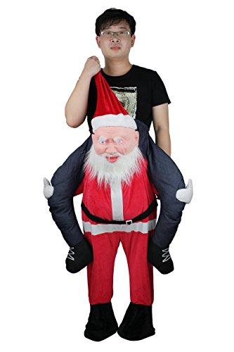 Ride On Mascot Costume Pants Novelty Santa Claus Carry Me Piggyback Christmas Party Fancy Dress -