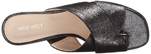 Nine West Nonstop Metallic-Kleid Sandale Pewter