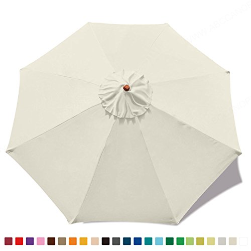 Abccanopy 23 Colors 9ft Market Umbrella Replacement Canopy 8 Ribs