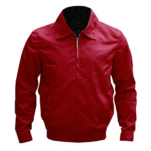 Dean Jacket Red James (Mens Rebel Without a Cause James Dean Red Cotton Jacket 2XS to 3XL (XLar - Jacket Chest 50