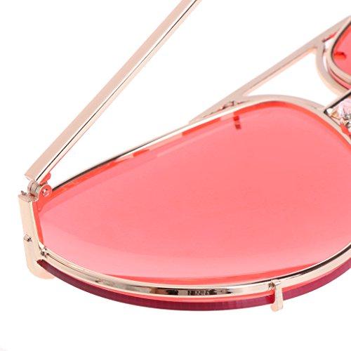 mujer Gafas para para B A JAGENIE aviador gran reflectante espejo sol efecto de piloto 4dBSBvPq