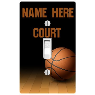 PP4U Personalized Basketball Printed Light Switch Cover - Now with Double Switch - Switch Covers Sports Light