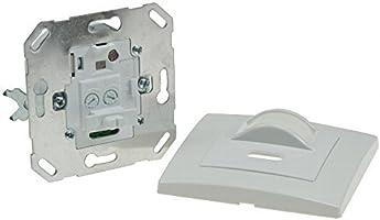 Sensor de movimiento 160° para montaje empotrado en pared, apto para luz led, conexión de 2 pines, carga mínima de solo 1 W, apto para cajas de 60 mm de diámetro y