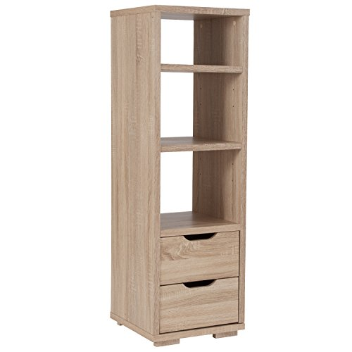 Flash Furniture Howell Collection Bookshelf with Storage Drawers in Sonoma Oak Wood Grain Finish