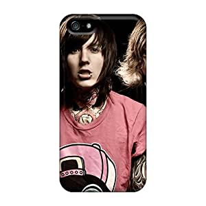 Best Hard Cell-phone Case For Apple Iphone 5/5s (ozl1700iKlV) Unique Design Realistic Bring Me The Horizon Band Bmth Image