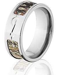 Titanium Camo Rings, Fish Hook Ring, Official Mossy Oak
