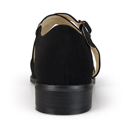 Collezione Journee Donna Dorsay Cinturini Alla Caviglia Neri