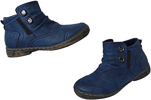 Damen Schuhe Sommer Boots Stiefeletten Stiefel Gr.36 - 41 Art.Nr.3106 navy