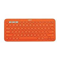 Logitech K380 Multi-Device Bluetooth Keyboard (Orange)