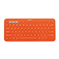 Logitech K380 Multi-Device Bluetooth Keyboard - Windows, Mac, Chrome OS, Android, iPad, iPhone, Apple TV 2nd or 3rd generation Compatible - with FLOW Cross-Computer Control and Easy-Switch up to 3 Devices - Orange