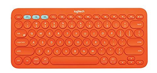 Logitech Multi Device Bluetooth Keyboard Orange