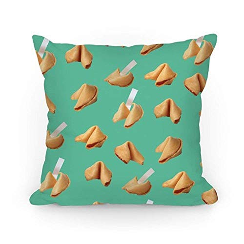 ACOVE Fortune Cookie Pillow (Mint) Throw Pillow Covers Cushion Case 18x18 inch