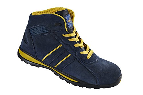 Hiker Style Safety Boot - Pro Man PM4070 S1P SRC Navy Yellow Steel Toe Cap Hiker Style Safety Work Boots Sneakers (US 9)