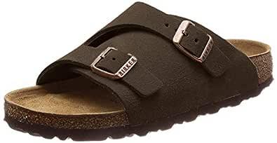 Birkenstock Unisex Zürich Suede Leather Sandals Soft-Footbed Regular Mocca Size EU 43 - UK M9