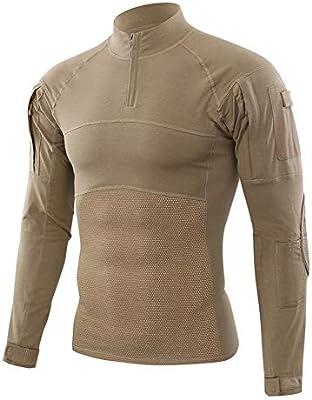 LASERIPLF Traje táctico para Hombres Camisa de Combate Manga Larga Ripstop Ropa de Airsoft Woodl Uniforme militar-2-XXXL: Amazon.es: Deportes y aire libre