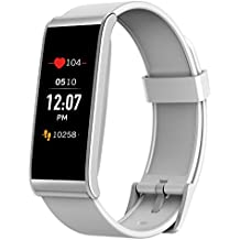 MyKronoz ZeFit4 HR Fitness Activity Tracker with Heart Rate Monitoring, Color Touchscreen & Smart Notifications - White/Silver - NEW Never Opened Box - (Certified Refurbished)