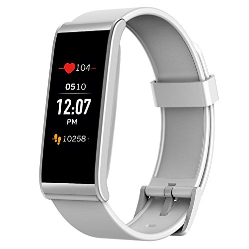 MyKronoz ZeFit4 HR Fitness Activity Tracker with Heart Rate Monitoring, Color Touchscreen & Smart Notifications - White/Silver - NEW Never Opened Box - - Ladies New Warranty Box Watch