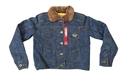 Bongo Princess Denim Jacket Coat W/ Faux Fur Toddler Size S Small 6 ()