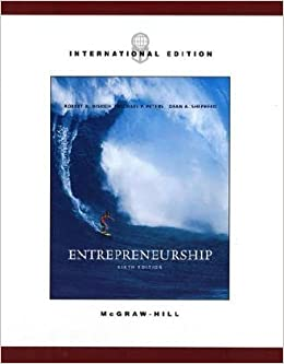 Book Entrepreneurship Sixth Edition International Edition By Robert D. Hisrich, Michael P. Peters, Dean A. Shepherd by MICHAEL P. PETERS, DEAN A. SHEPHERD ROBERT D. HISRICH (2005-05-03)