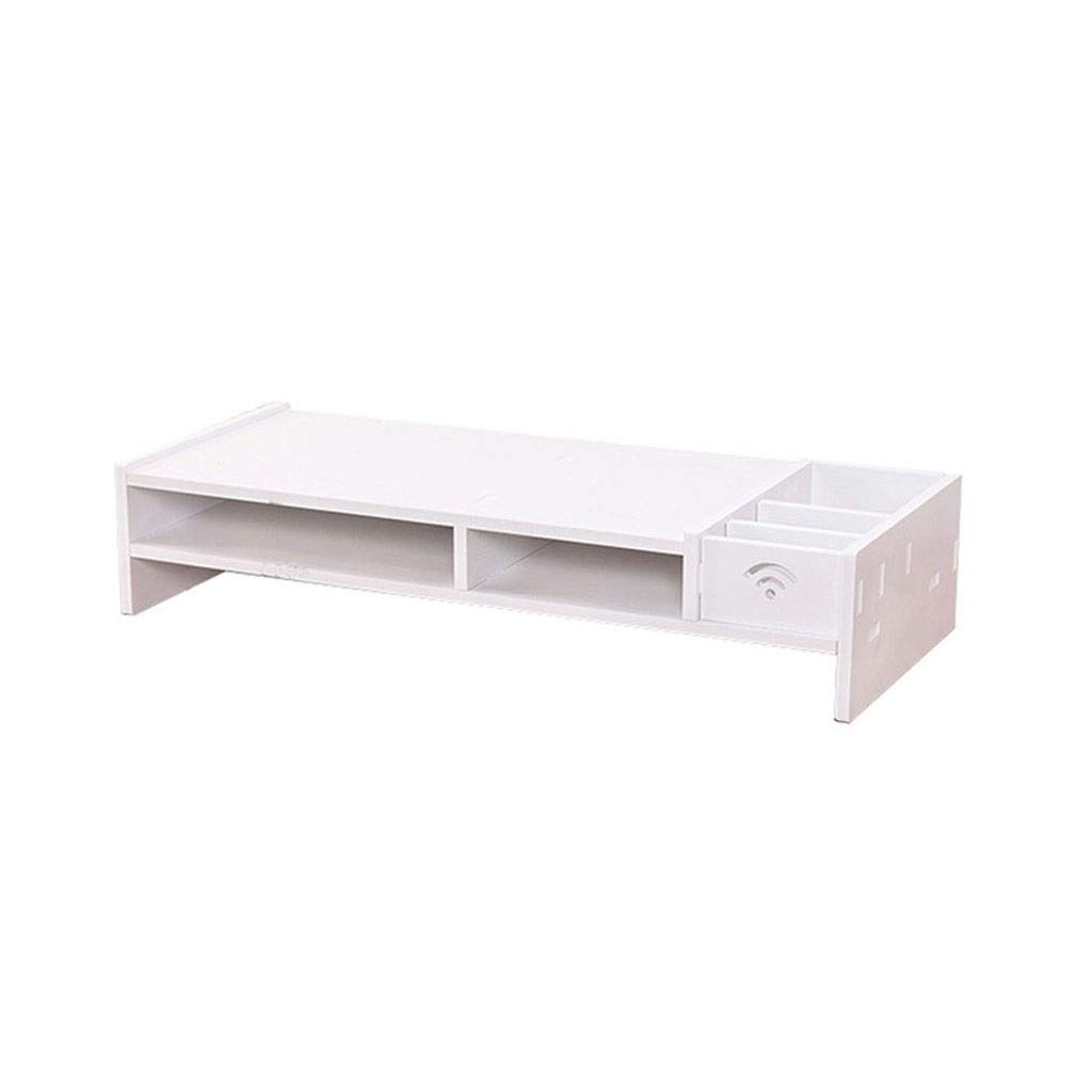 Tmpty Desktop Monitor Stand Riser,TV Stand and Computer Desk Organizer,Office Supplies Storage Shelf,White by Tmpty