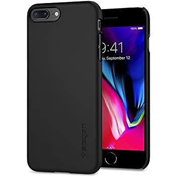 Spigen Thin Fit [2nd Generation] iPhone 8 Plus Case/iPhone 7 Plus Case with SF Coated Premium Matte Finish Coating for Apple iPhone 8 Plus (2017)/iPhone 7 Plus (2016) - Black