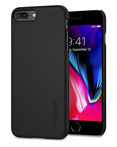 Spigen Thin Fit [2nd Generation] Designed for Apple iPhone 8 Plus Case (2017) / Designed for iPhone 7 Plus Case (2016) - Black